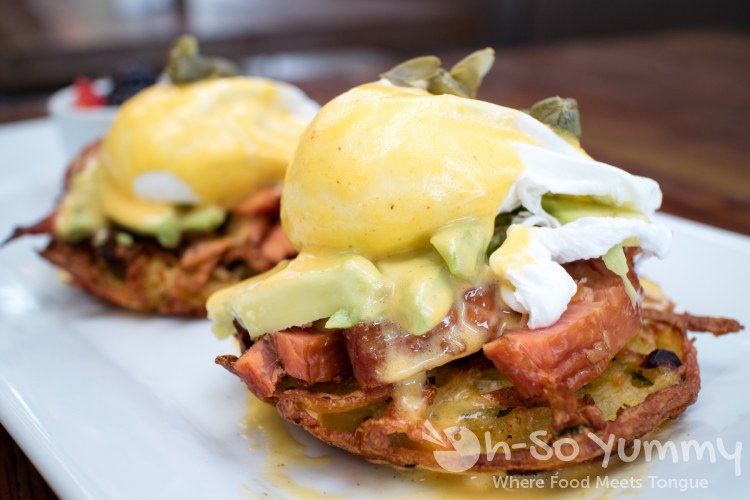 Smoked Salmon Benedict at Bushfire Kitchen in Del Mar California