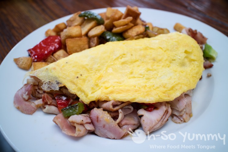 denver omelette at bushfire kitchen in del mar california - Bushfire Kitchen