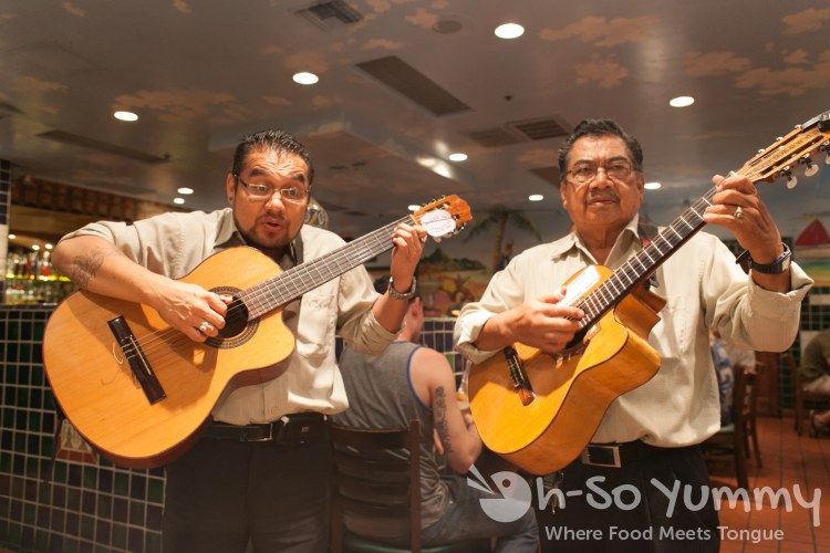 mariachi musicians at Cafe Coyote in Old Town San Diego