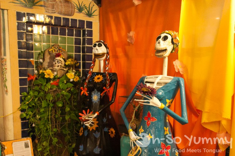dia de muertos at Cafe Coyote in Old Town San Diego