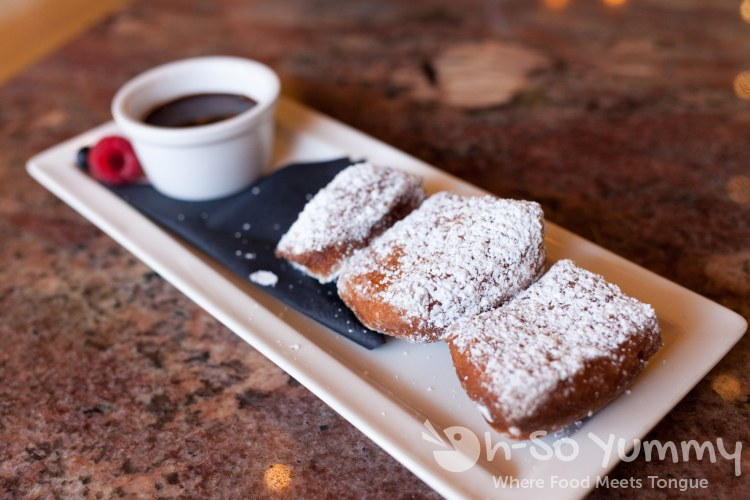 Fresh Berries Beignets at Cafe La Rue