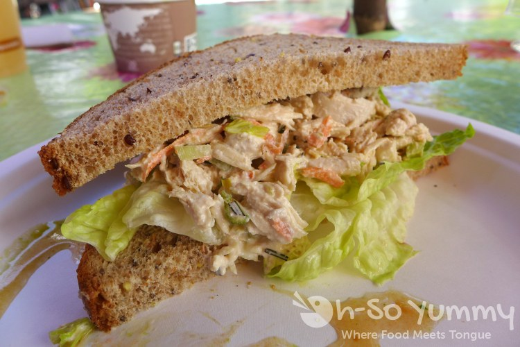 chicken salad sandwich at Cafe Metropole in Avalon on Catalina Island