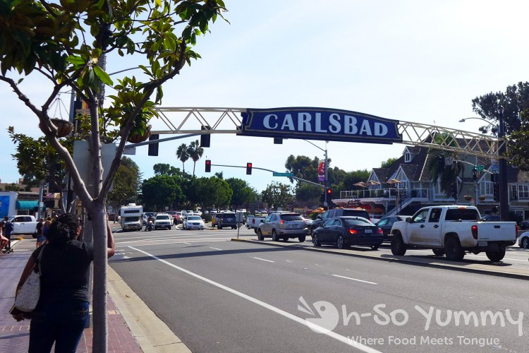 Carlsbad sign over the streets