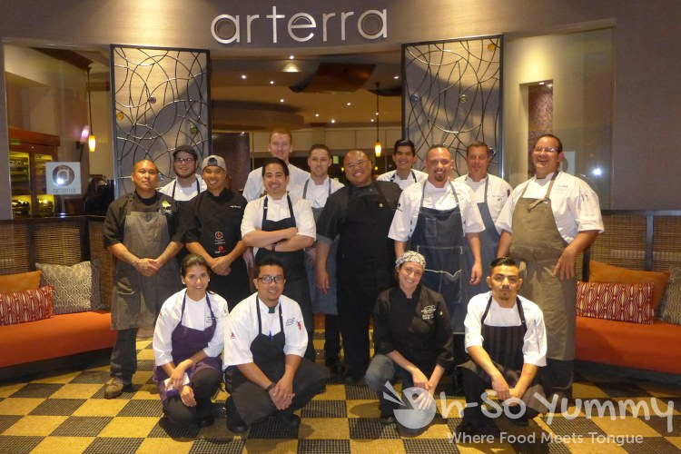 Chefs and staff for Chef Celebration at Arterra