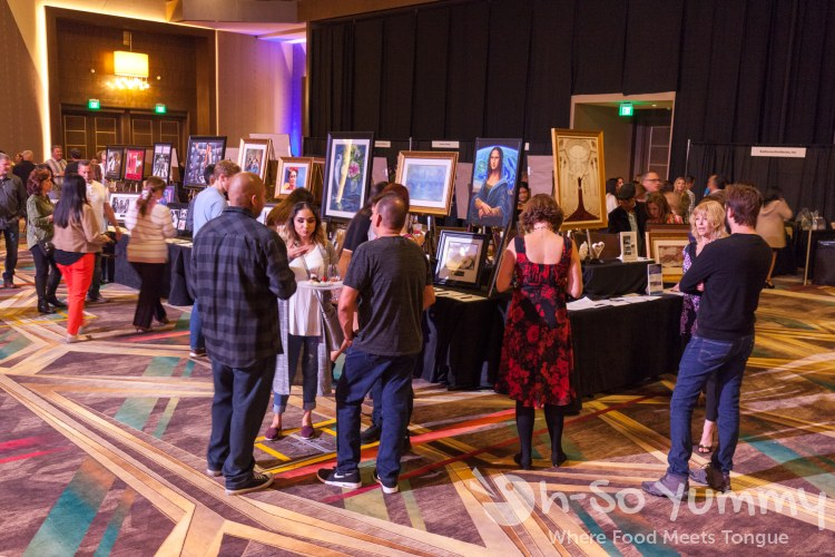 Silent auction at the 10th Annual Chocolate Decadence at Pechanga Resort and Casino