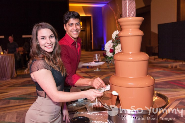 chocolate fountains at the 10th Annual Chocolate Decadence at Pechanga Resort and Casino