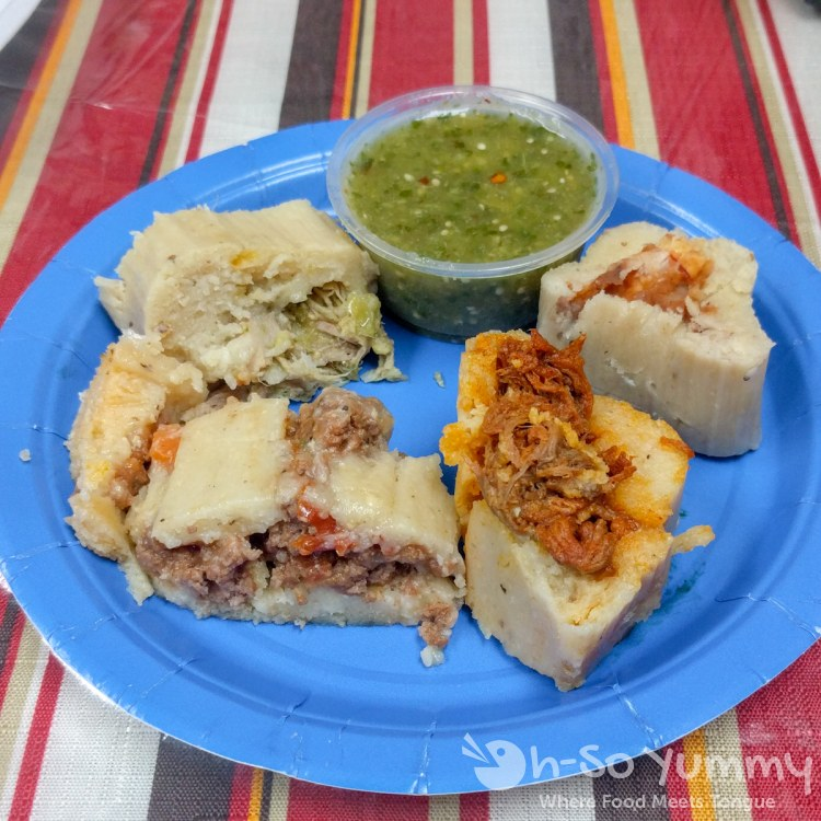 four tamales from Tamales Ancira in Chula Vista