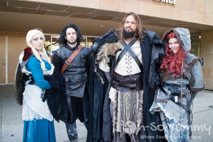 Game of Thrones cosplay outside of San Diego Comic Con 2017