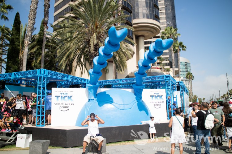 The Tick exhibit outside of San Diego Comic Con 2017