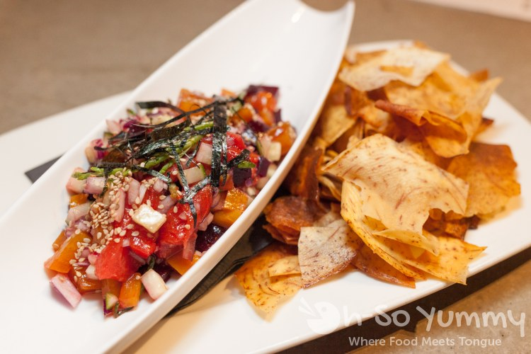 Beet and Watermelon Poke at Common Theory Public House in San Diego