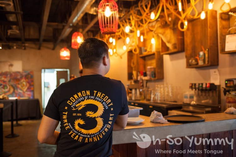 3 year anniversary tshirt at Common Theory Public House in San Diego