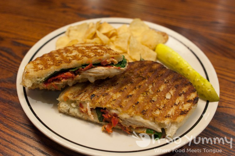 Chicken Pomodori Panini at Corner Bakery Cafe