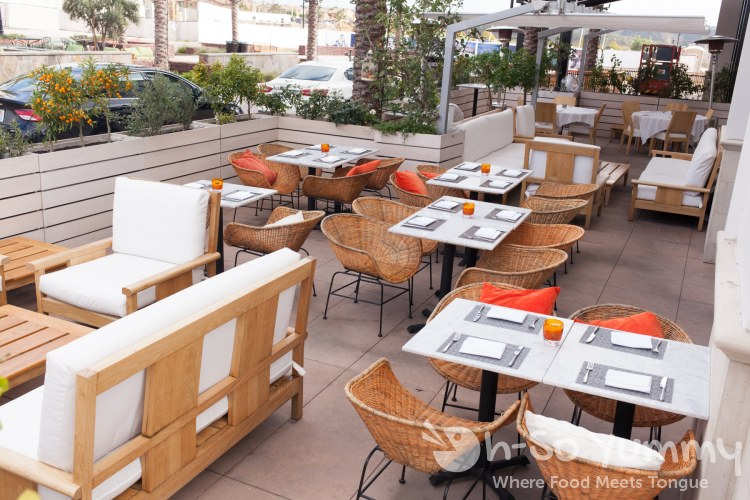 patio seating at Crudo by Pascal Lorange