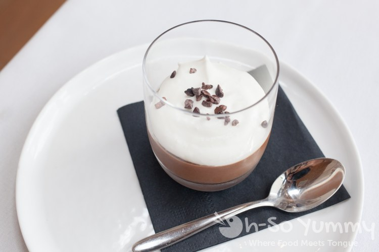 pot de creme at Crudo by Pascal Lorange