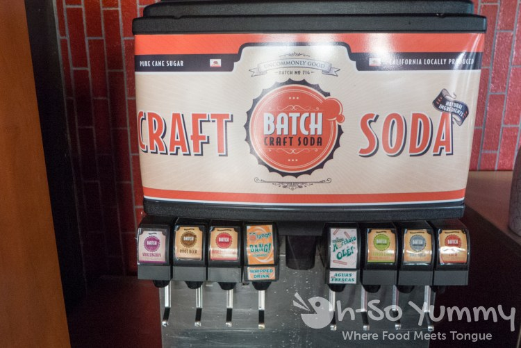 craft sodas in the fountain drink machine at Carnitas Snack Shack (Carmel Valley area)