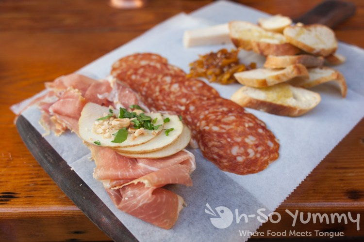 formaggi + salumi set of 3 at Davanti Enoteca in Del Mar