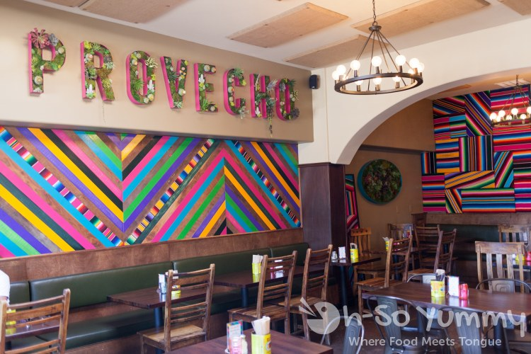 Colorful walls at Del Sur Mexican Cantina