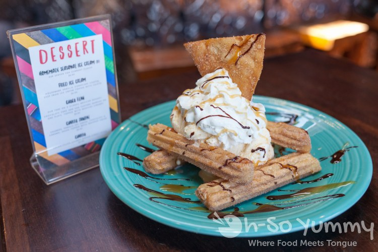 Churro Sundae at Del Sur Mexican Cantina