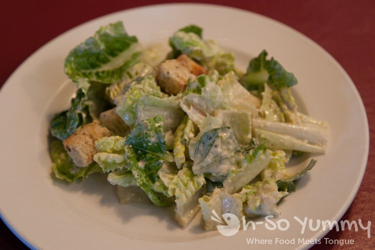 Caesar salad at Domenic's Italian Ristorante in Poway