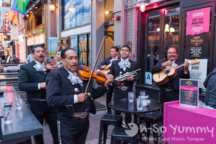 mariachi band at El Chingon in San Diego