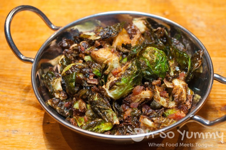 brussels sprouts at Encontro North Park in San Diego
