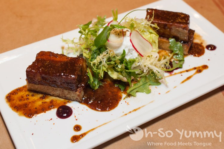 Braised Pork Belly at Et Voila French Bistro in San Diego