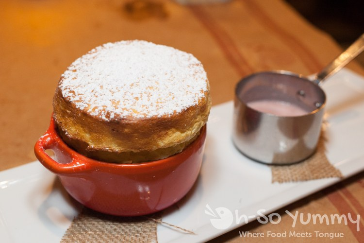 Souffle du Jour at Et Voila French Bistro in San Diego