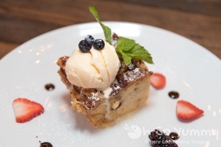 Bread Pudding at Farmer's Bottega for SDRW