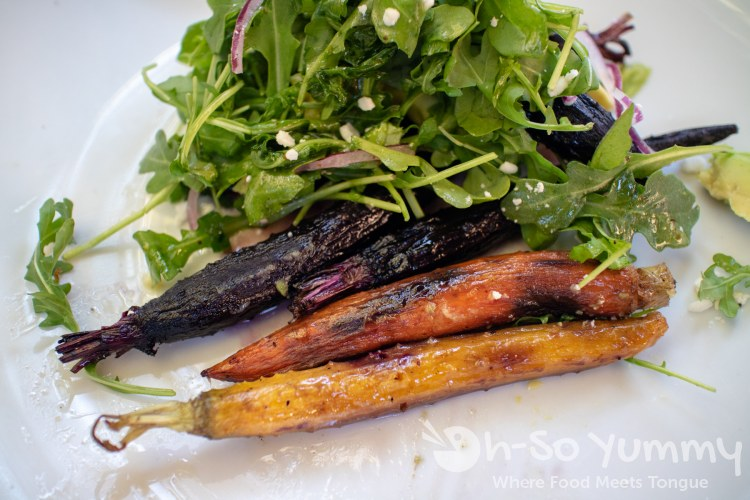 Burnt Carrot Salad at Farmer's Bottega for SDRW