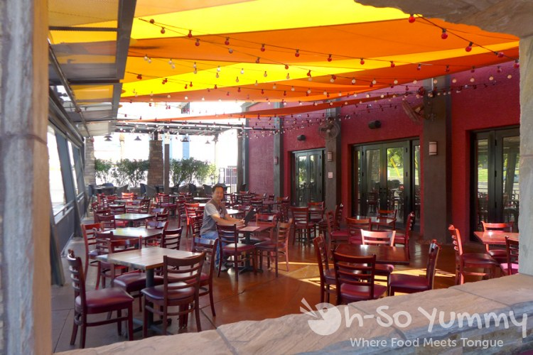 outdoor patio at Firefly on Paradise off strip Las Vegas