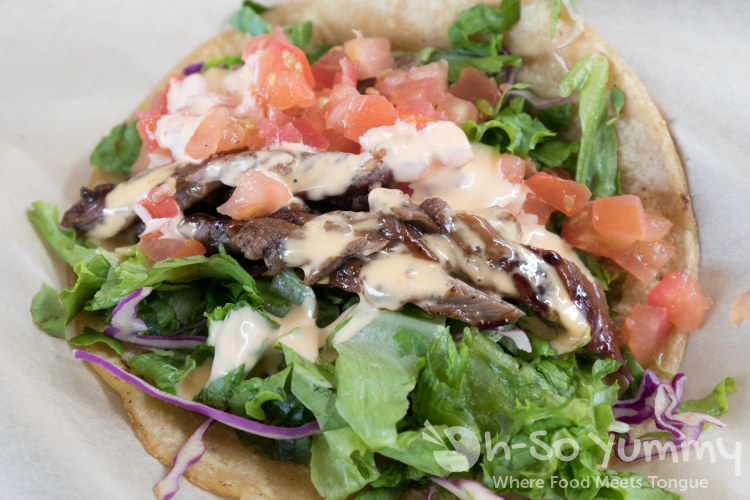 Steak taco traditional style at Fish District in San Diego