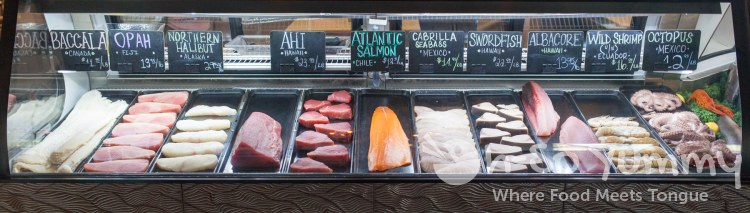 fresh fish cuts at Fishmonger's Market in San Diego