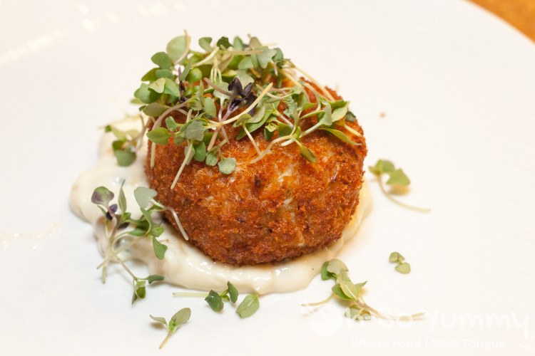 Maryland Crab Cake at Florent Restaurant and Lounge