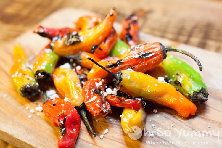 Blistered Shishito Peppers at Florent Restaurant and Lounge