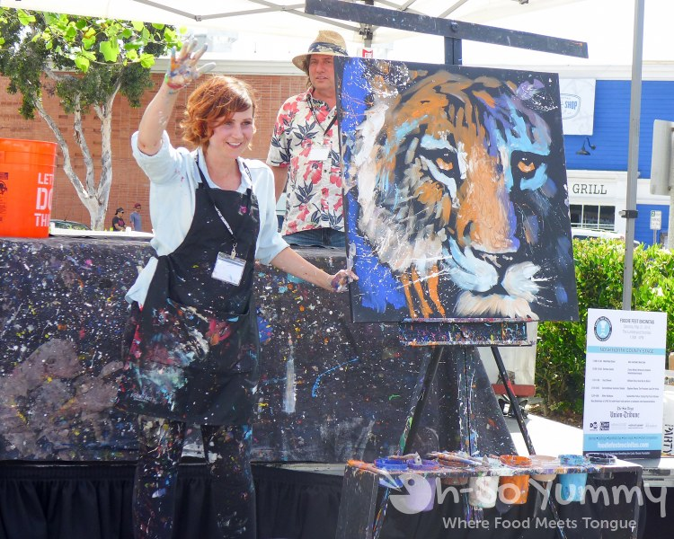 Pulse Live Art with Heart at Foodie Fest Encinitas