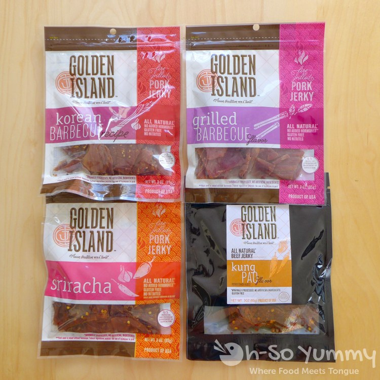 Golden Island pork and beef jerky products
