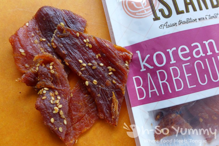 Korean Barbecue flavored pork jerky from Golden Island