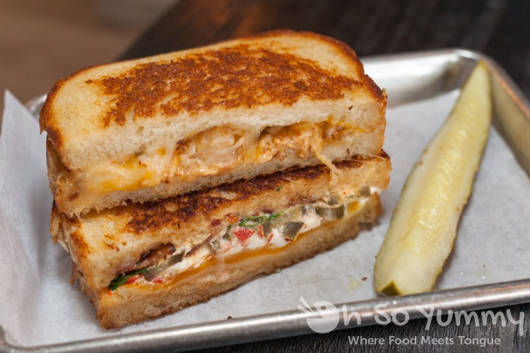 stacked grilled cheese at Grater Grilled Cheese in La Jolla