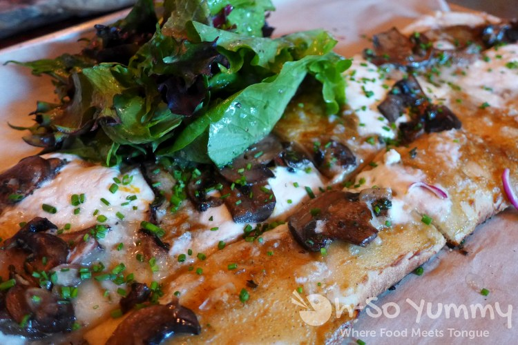 mushroom brick oven pizza at Green Acres Campus Pointe