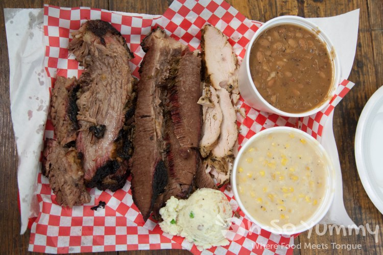 brisket, turkey and fixin's at Harmon's Bar-B-Q and Catering