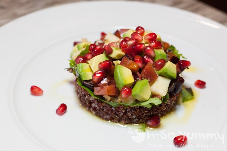 Red Quinoa and Stonefruit Salad at Humphreys