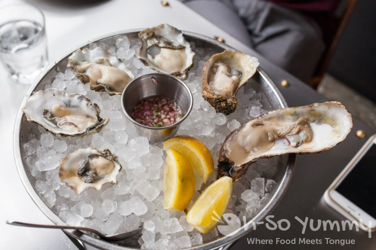 Oysters at Ironside Fish and Oyster Bar in Little Italy