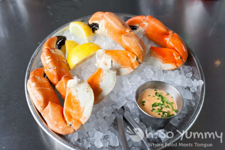 Baja Stone Crab Claws at Ironside Fish and Oyster Bar in Little Italy
