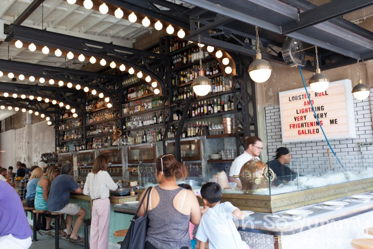 Oyster bar at Ironside Fish and Oyster Bar in Little Italy