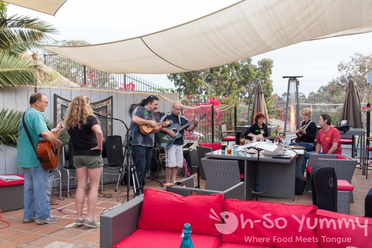 Live music with Mario on the ukulele at Isabella Artisan Pizzeria and Craft Beer Garden