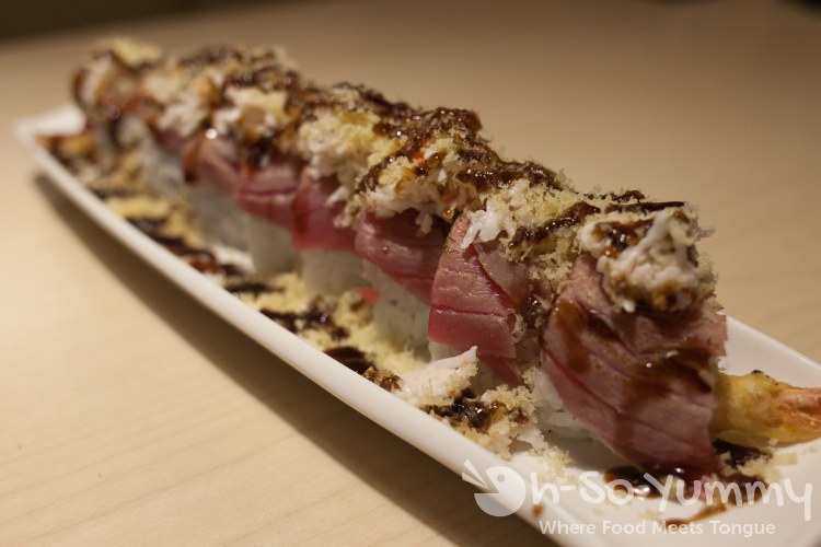 Hollywood roll at Izumi Japanese Restaurant in Poway, CA