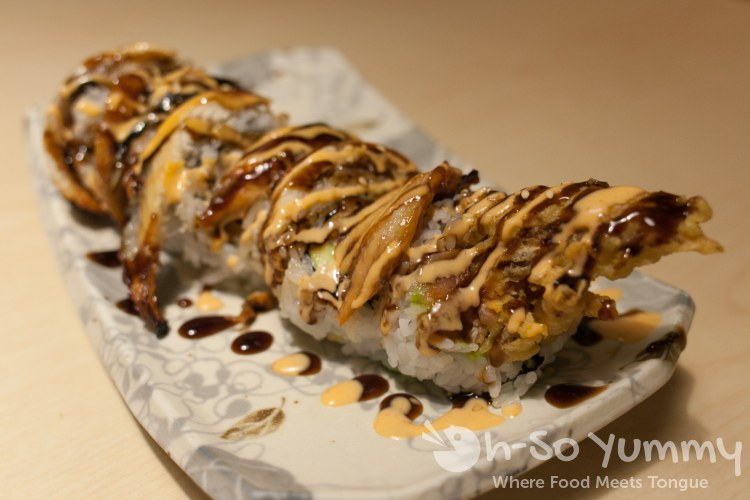 Super Spider roll at Izumi Japanese Restaurant in Poway, CA