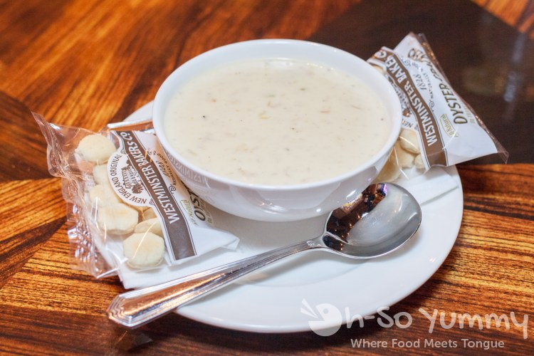 clam chowder at Kelsey's Bar and Grill at Pechanga