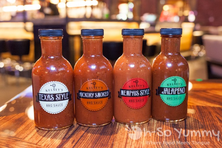 barbecue sauces at Kelsey's Bar and Grill at Pechanga