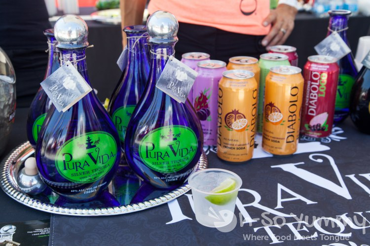 Pure Vida tequila and Diabolo french soda at Latin Food Fest San Diego